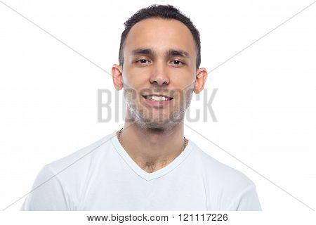 Young man smiling, veneers