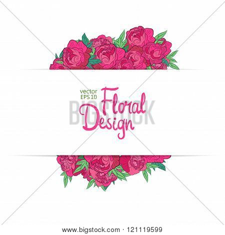 Floral vector border
