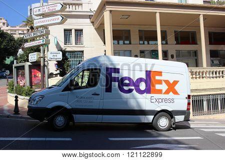 Fedex Express Van In Monte-carlo, Monaco