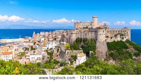 Landscape Of Old Gaeta With Ancient Castle