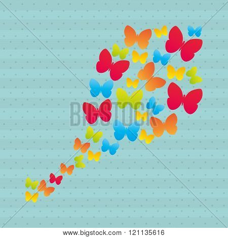 butterfly isolated design