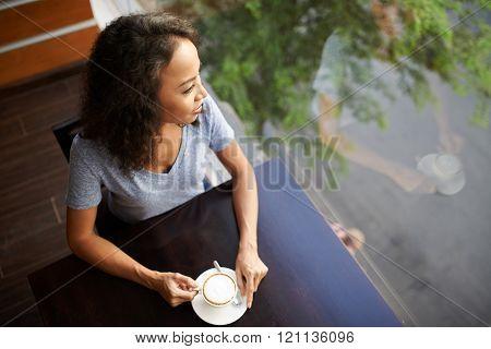 Coffee break in cafe