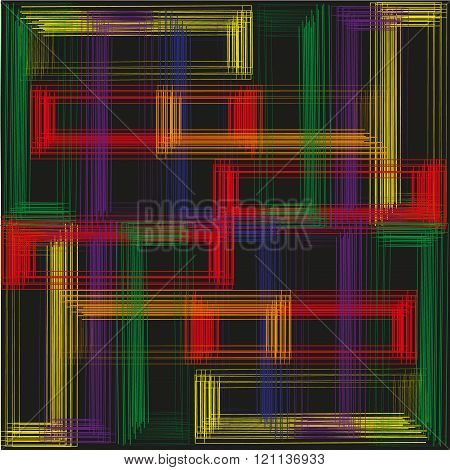 Picture bright background color quadrangle on a black background