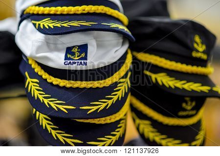 Caps sailors in natural light