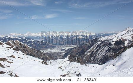 Landscape From The Kaprun Skiing Resort.