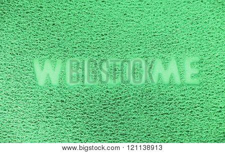 Colorful plastic welcome doormat