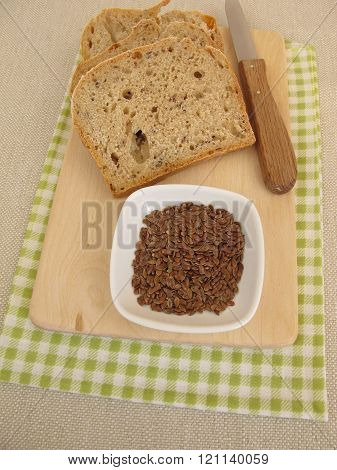 Bread with flax seeds