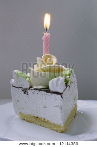 Candle on a cake