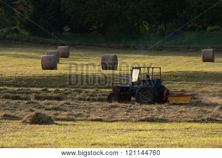 Straw Bale And Harvester