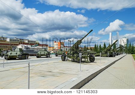 Exhibits Of The Museum Of Military Equipment.
