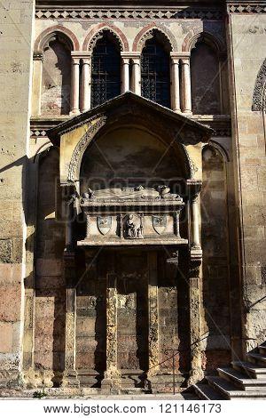 Aventino Fracastoro Funerary Monument From San Fermo Maggiore Church Facade