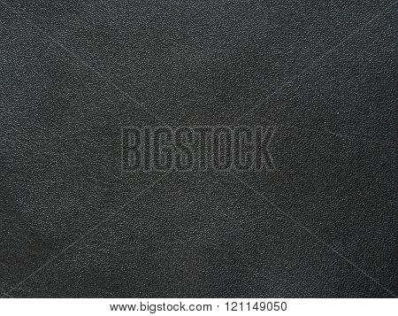 Full grain black genuine leather background object