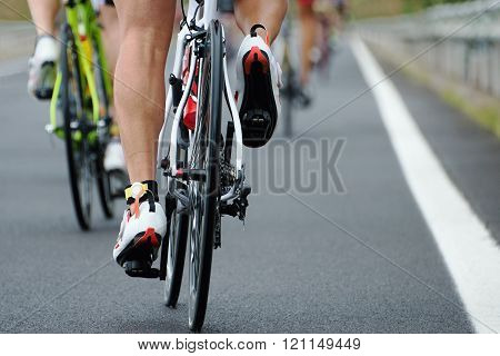 Cycling competition race at high speed