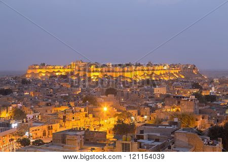 Jaisalmer city in Rajasthan state, India