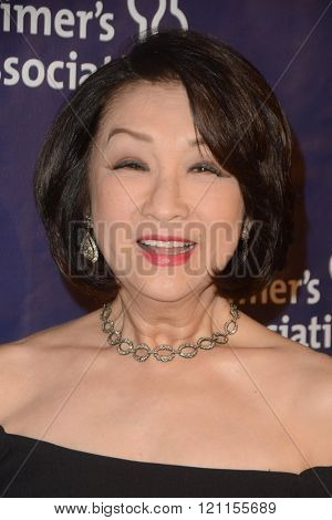 LOS ANGELES - MAR 9:  Connie Chung at the A Night at Sardis - 2016 Alzheimer's Association Event at the Beverly Hilton Hotel on March 9, 2016 in Beverly Hills, CA
