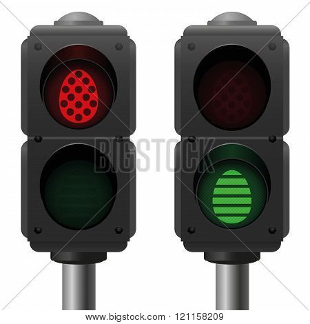 Easter Eggs Pedestrian Traffic Lights