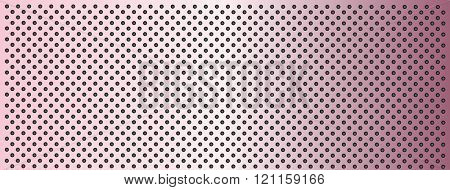High resolution concept conceptual pink metal stainless steel aluminum perforated pattern texture mesh banner background