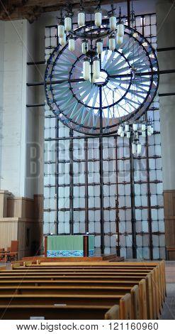 Church interior view.