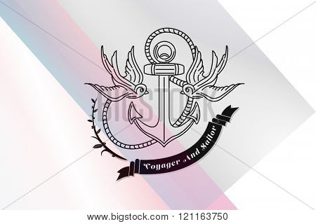 Anchor icon against colored background