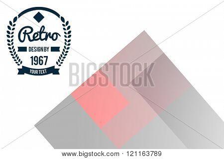 Retro symbol against colored background