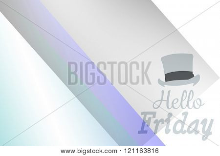 Hello Friday word against colored background