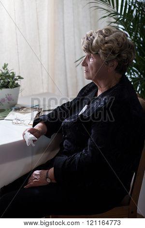 Sadness widow