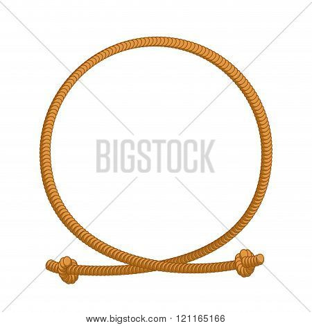 Rope Loop Frame. Rope Rope Circle With Sites