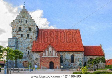 Simrishamn Church Painting