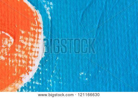 Blue and Orange Circle Design 2