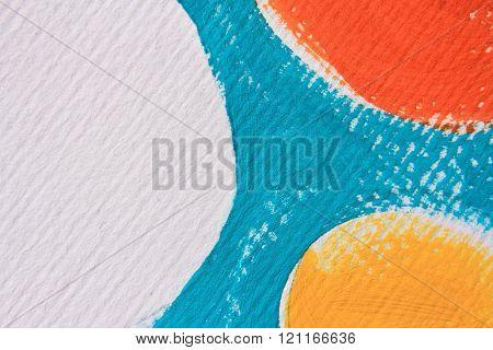 Blue Yellow Orange and White Circle Design