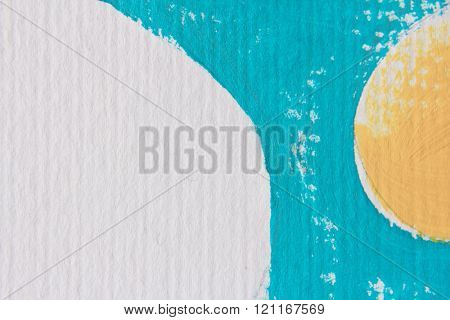 Blue White and Yellow Circle Design