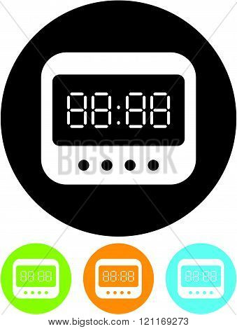 Digital clock Vector icon isolated