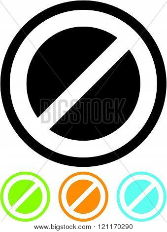 Forbidden warning sign - Vector icon isolated