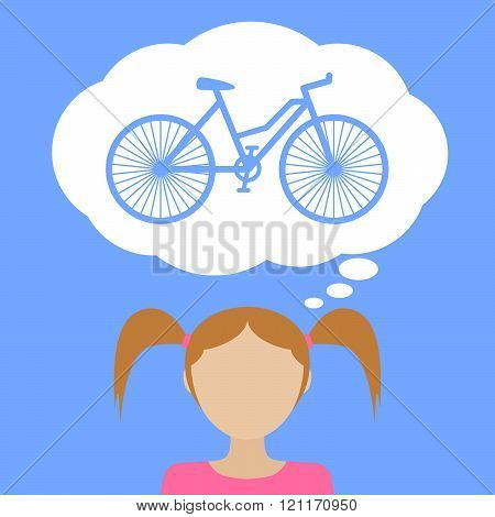 Girl Dream About Bicycle.