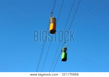 Two Cars Of The Cableway