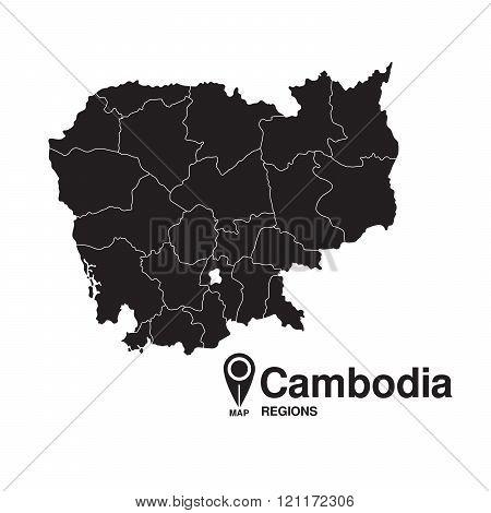 Cambodia Map Regions