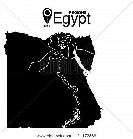 Egypt Map. Regions Of Egypt