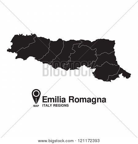 Italy Emilia Romagna Map