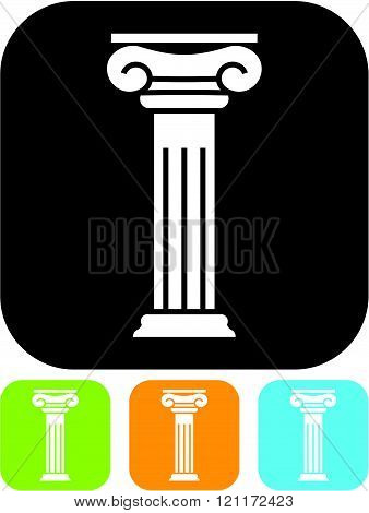 Antique column pillar - Vector icon isolated poster
