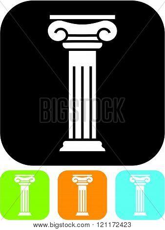 Antique column pillar - Vector icon isolated