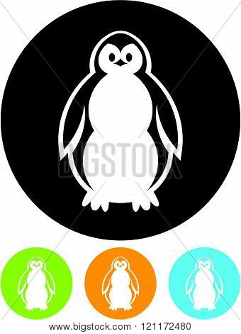 Baby Penguin - Simple vector icon isolated
