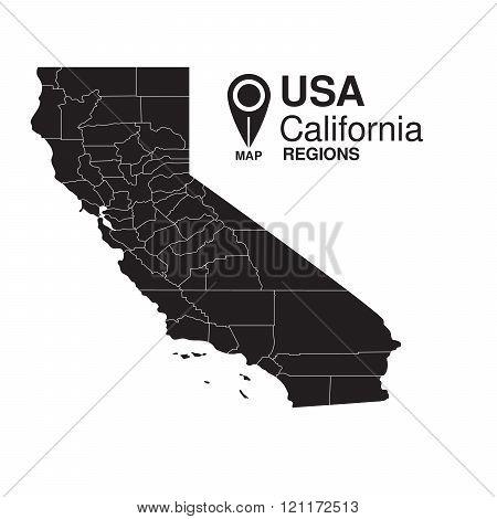 Usa California Regions Map