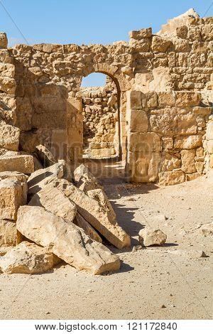 Ruins Of The Ancient Nabataean Town Shivta