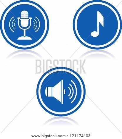 Music and sound - Vector icons