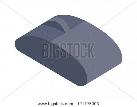 Computer mouse icon vector illustration. Isometric computer mouse flat design. Computer mouse business technology. Isometric computer mouse symbol. Isometric computer mouse infographic equipment.