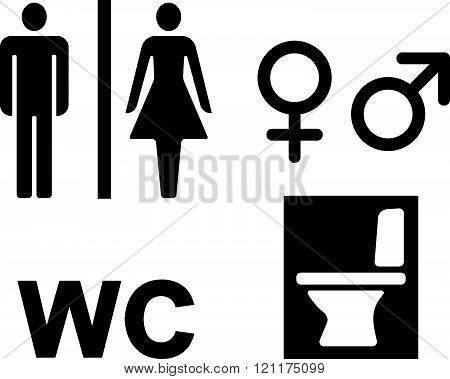 Bathroom WC signs