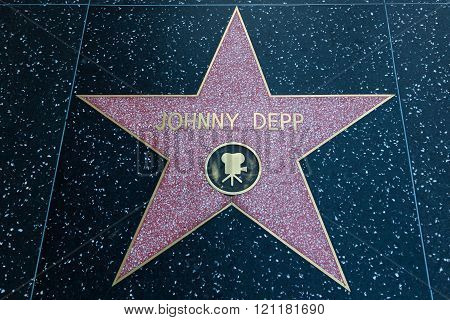 Johnny Depp Hollywood Star