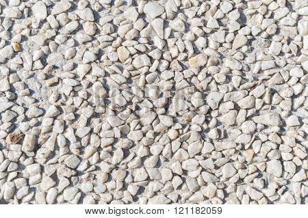 Abstract Background With Round Peeble White Stones