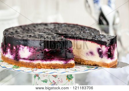 Delicious Blueberry Cheesecake