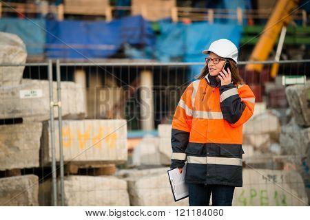 Senior woman engineer working